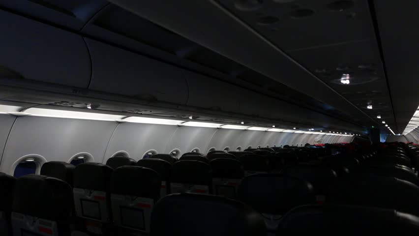 Air crafts dim cabin lights