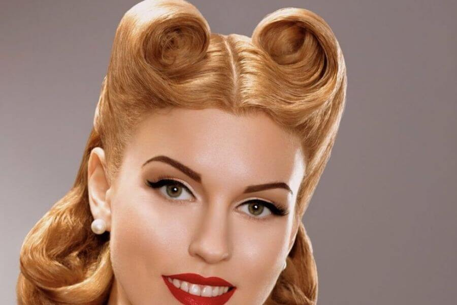 bouffants and fringes style