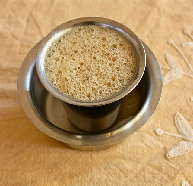 no stir south indian style coffee