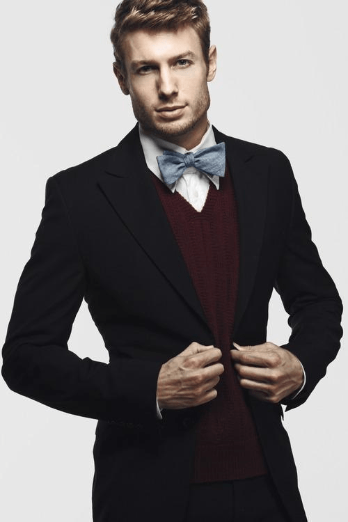 casual formal look bow tie