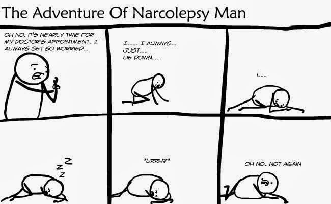 adventure of narcolepsy man
