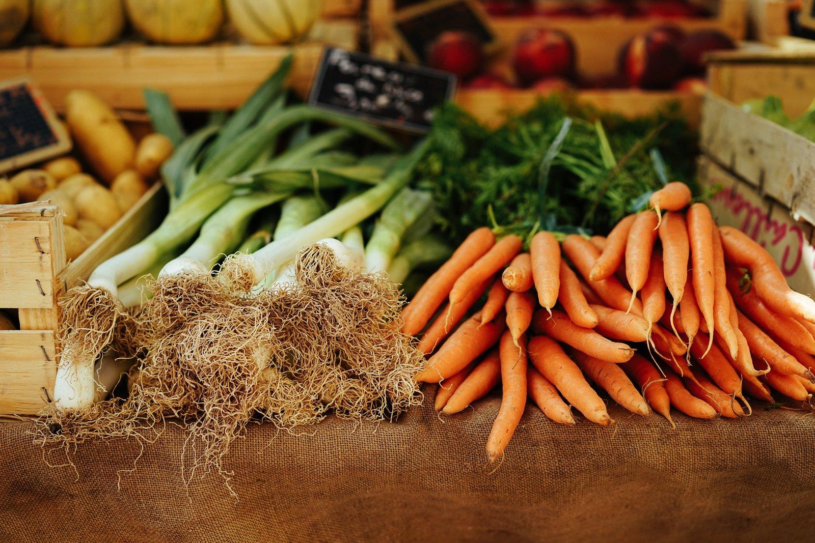 carrot, vegetables, scallion