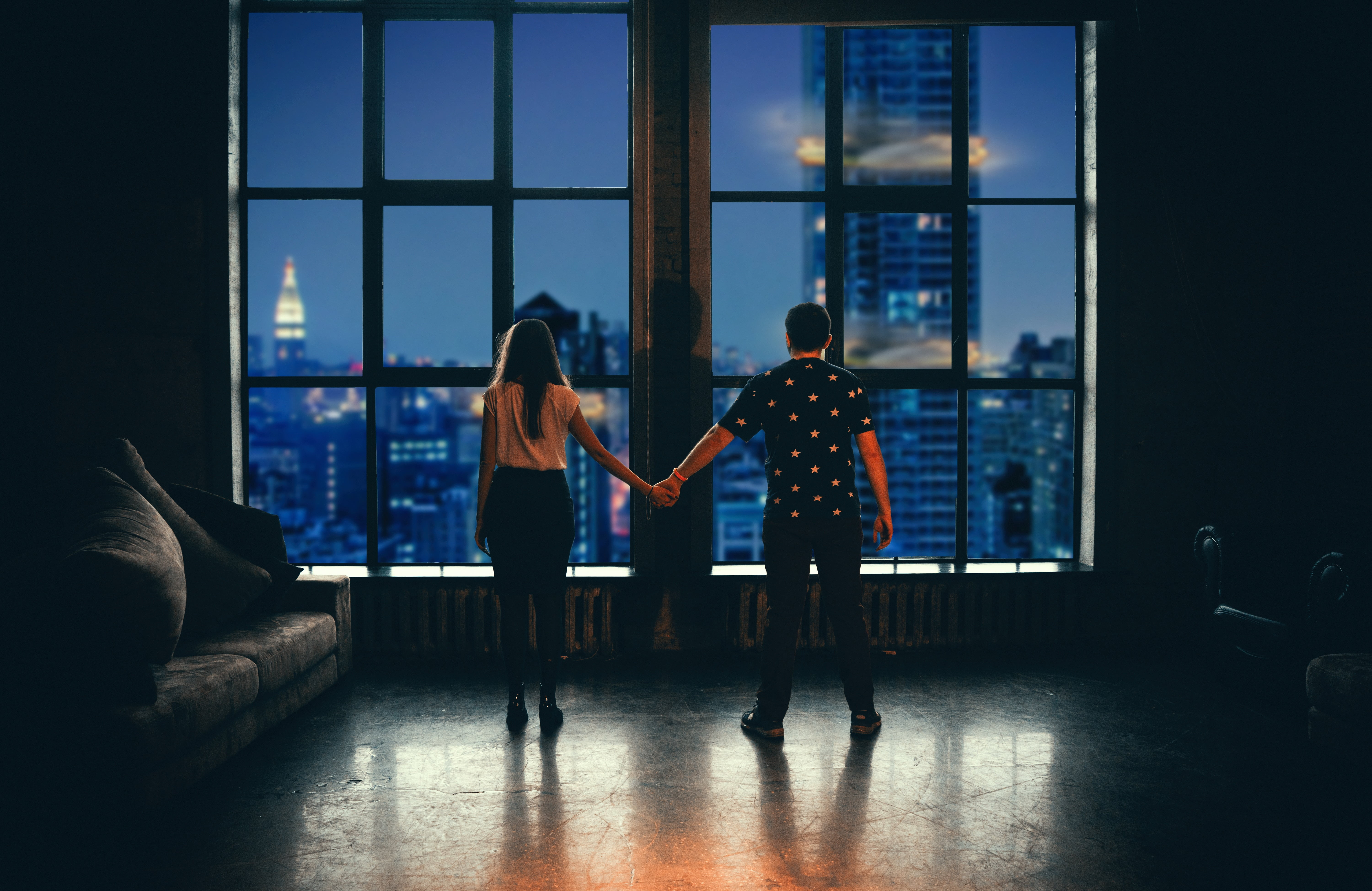 couple in their rental home