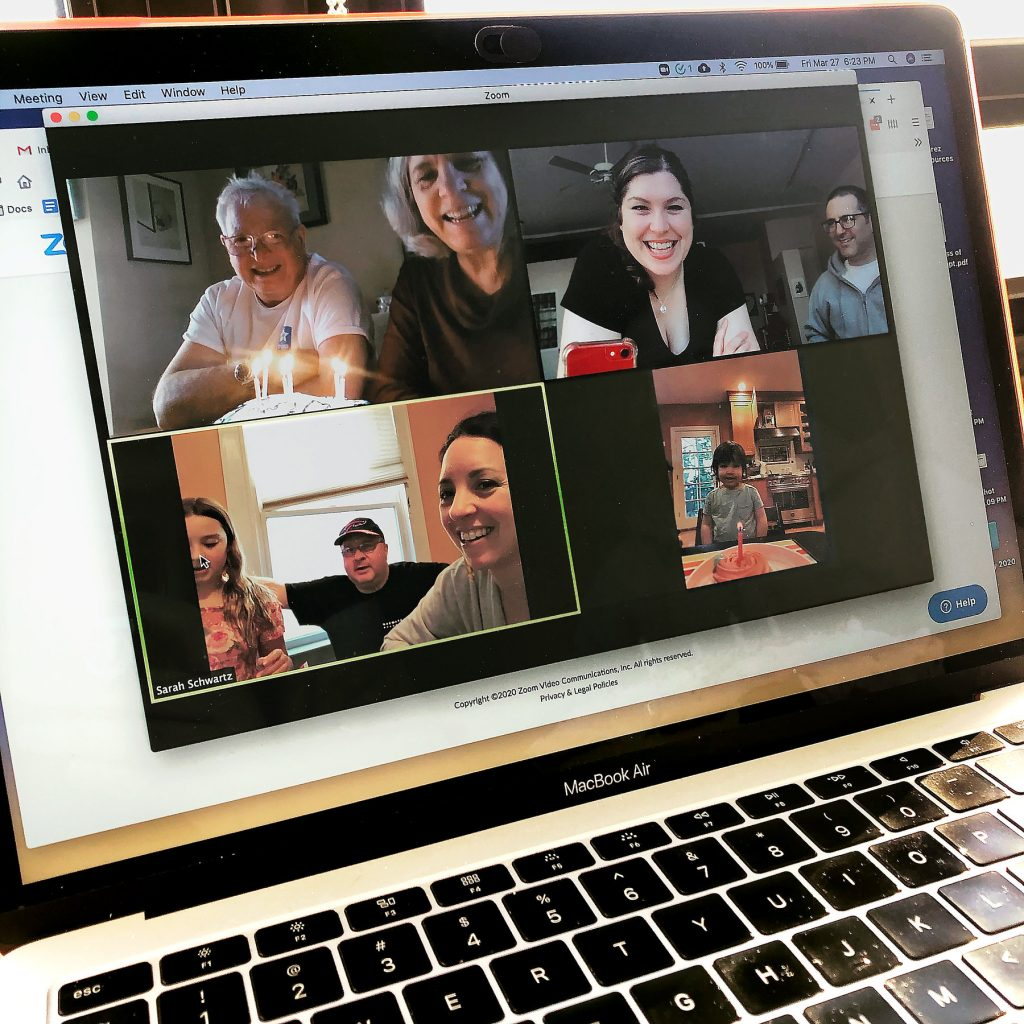 Have a celebration on a video call