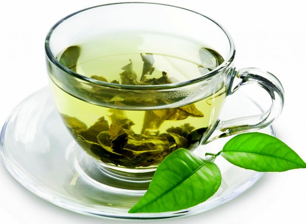 Green Tea Is Placed After Water