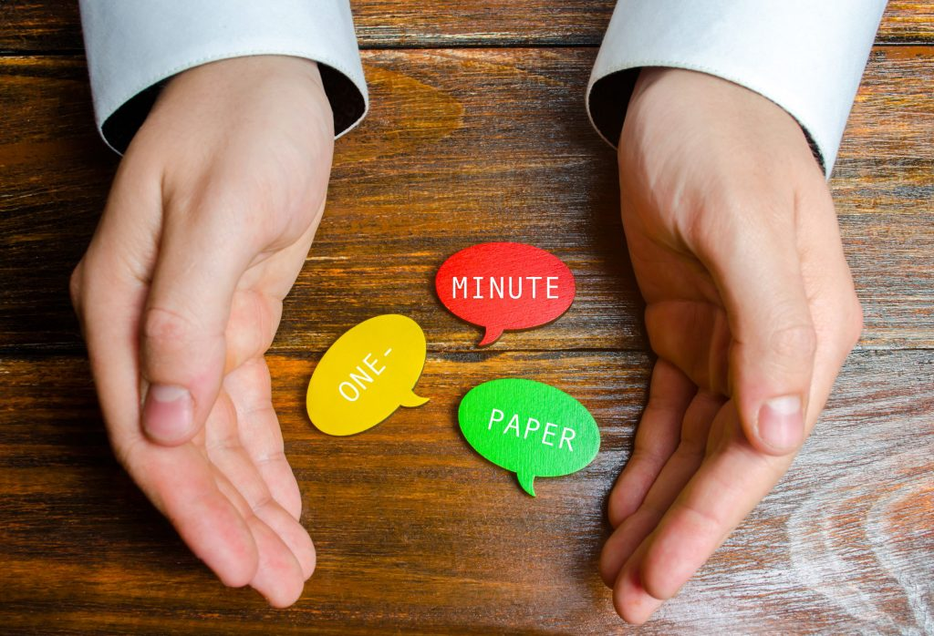 The One-minute Paper