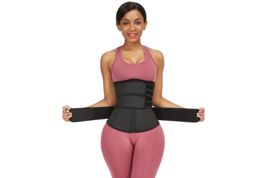 Latex Waist Trainer with Three Belts
